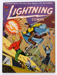 Lightning Comics V2#1 (Ace, 1941) Condition: FN