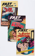 Golden Age (1938-1955):Classics Illustrated, Fast Fiction Group of 4 (Seaboard Pub., 1949-50) Condition: Average FN.... (Total: 4 Comic Books)