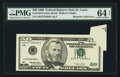 Error Notes:Foldovers, Fr. 2126-H $50 1996 Federal Reserve Note. PMG Choice Uncirculated64 Net.. ...
