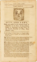 Books:Americana & American History, [Connecticut]. Acts and Laws, Made and Passed by the GeneralCourt or Assembly of the State of Connecticut, Holden at Ha...