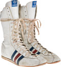"Movie/TV Memorabilia:Costumes, A Pair of Boxing Shoes from ""Rocky IV.""..."