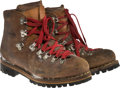 """Movie/TV Memorabilia:Costumes, A Pair of Hiking Boots from """"Cliffhanger.""""..."""