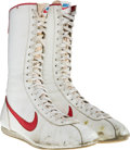 "Movie/TV Memorabilia:Costumes, A Pair of Boxing Shoes from ""Rocky III.""..."
