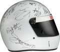 Movie/TV Memorabilia:Costumes, A Racing Helmet Signed by Various CART Drivers, Circa 2000....