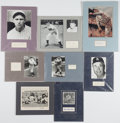 Miscellaneous Collectibles:General, Baseball and Football Signed Cut Signature Displays Lot of 8....