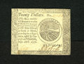 Colonial Notes:Continental Congress Issues, Continental Currency September 26, 1778 $20 Choice About New. Crispand fresh is this Continental note that has superb print...