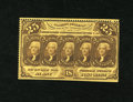 Fractional Currency:First Issue, Fr. 1279 25c First Issue Choice New. Perforations are on two sidesof this note....