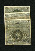 Fractional Currency:Second Issue, 25c Second Issue Very Good or Better. Six Examples. A couple of different Friedberg numbers are within this grouping of Seco... (Total: 6 notes)