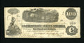 Confederate Notes:1862 Issues, T40 $100 1862. A tiny hole is located in the train vignette.Fine....