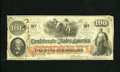 Confederate Notes:1862 Issues, T41 $100 1862. Here is an attractive mid-grade Fine-Very FineScroll 2 C-note....