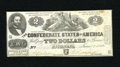 Confederate Notes:1862 Issues, T42 $2 1862. Only honest wear graces this mid-grade ConfederateDeuce. Very Fine....