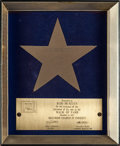 Music Memorabilia:Awards, Rod McKuen - Set Of Three Awards - Gold Record, Oscar NominationAnd Hollywood Walk Of Fame (1969/1975).... (Total: 3 )