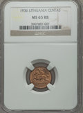 Lithuania, Lithuania: Republic Centas 1936 MS65 Red and Brown NGC,...