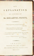 Books:Art & Architecture, [Art]. An Explanation of Several of Mr. Hogarth's Prints. London: Printed for the Author, 1785....