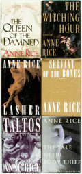 Books:Horror & Supernatural, Anne Rice. Group of Six Titles. New York: Alfred A. Knopf, [various dates].... (Total: 6 Items)