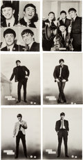 Music Memorabilia:Photos, A Group of Six Large Vintage Beatles Star-Pics Photographs by DezoHoffman (UK, 1963)....