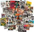 Music Memorabilia:Photos, A Group of 65 Vintage Beatles Postcards and Photocards....