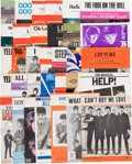 Music Memorabilia:Sheet Music, Beatles Large Vintage Sheet Music Collection (Thirty-Two Pieces)(UK, US, & Germany, 1963-1970). ...