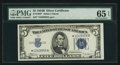 Small Size:Silver Certificates, Fr. 1652* $5 1934B Silver Certificate Star. PMG Gem Uncirculated 65 EPQ.. ...