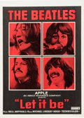 Music Memorabilia:Posters, Beatles Let It Be Belgian Movie Poster (United Artists,1970)...