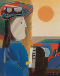 Max Papart (French, 1911-1994) American Lady Oil on canvas 34 x 27 inches (86.4 x 68.6 cm) Sig