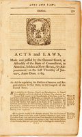 Books:Americana & American History, [Connecticut]. Acts and Laws, Made and Passed by the GeneralCourt, or Assembly of the Senate of Connecticut, in America...