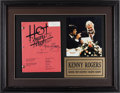 Music Memorabilia:Autographs and Signed Items, Kenny Rogers Signed 1991 Hot Country Nights Script from theDick Clark Collection, in Framed Display. ...
