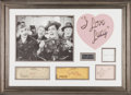 "Movie/TV Memorabilia:Autographs and Signed Items, A Set of Autographs Related to ""I Love Lucy.""..."