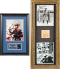 Movie/TV Memorabilia:Memorabilia, A Clayton Moore Group of Signed Photographs, Circa 1980s.. ...(Total: 2 )