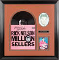 Music Memorabilia:Autographs and Signed Items, Rick Nelson Signed Rick Nelson Million Sellers LP (Imperial LP-12232, 1963) in Framed Display. ...
