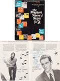 Music Memorabilia:Autographs and Signed Items, Sam Cooke and George Hamilton IV Signed Tour Book, Spring 1958....