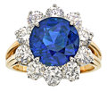 Estate Jewelry:Rings, Burma Sapphire, Diamond, Platinum, Gold Ring, Oscar Heyman. ...