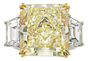 Featured item image of Fancy Yellow Diamond, Diamond, Platinum, Gold Ring  ...