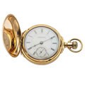 Timepieces:Pocket (post 1900), Peoria Box Hinged 18 Size Hunter Case Pocket Watch. ...