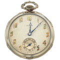 Timepieces:Pocket (post 1900), Howard 14k White Gold Gent's Pocket Watch, Box & Papers. ...