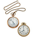 Timepieces:Pocket (post 1900), Elgin & B.W. Raymond Pocket Watches. ... (Total: 2 Items)