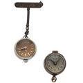 Timepieces:Pendant , Two Glass Ball Pendants. ... (Total: 2 Items)