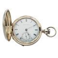 Timepieces:Pocket (pre 1900) , Waltham 18 Size Key Wind Hunter's Case Pocket Watch. ...
