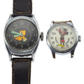 Timepieces:Wristwatch, Mickey Mouse & Pluto Wristwatches. ... (Total: 2 Items)