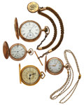 Timepieces:Pocket (post 1900), A Lot Of Four Hunter Case Pocket Watches. ... (Total: 4 Items)