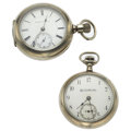 Timepieces:Pocket (post 1900), Hampden & Elgin Open Face 18 Size Pocket Watches. ... (Total: 2Items)