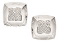 Estate Jewelry:Earrings, Diamond, White Gold Earrings, Bvlgari. ...