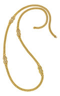 Estate Jewelry:Necklaces, Diamond, Gold Necklace, Fred. ...