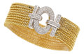 Estate Jewelry:Bracelets, Diamond, Gold Bracelet, Leo Pizzo. ...