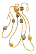 Estate Jewelry:Necklaces, Diamond, Brown Diamond, Gold, Silver Necklace, Yossi Harari . ...
