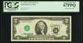 Error Notes:Inverted Third Printings, Fr. 1935-A $2 1976 Federal Reserve Note. PCGS Superb Gem New67PPQ.. ...