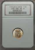 Netherlands East Indies, Netherlands East Indies: Holland silver 1/2 Duit 1760 MS65 NGC,...