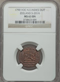 Netherlands East Indies, Netherlands East Indies: Trio of NGC Certified Minor Coins1790-1835,... (Total: 3 coins)