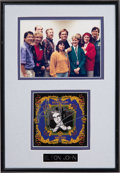 Music Memorabilia:Autographs and Signed Items, Elton John Autograph, Framed With Photo (1990s)....