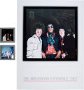 Music Memorabilia:Photos, Two Color Slides of the Jimi Hendrix Experience in Germany, 1967....